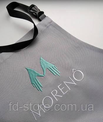 Фартук с вышивкой логотипа