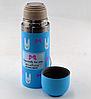 Вакуумний дитячий металевий термос BENSON BN-55 рожевий (350 мл)   термочашка LOVE, фото 4