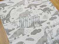 Плотный 140х100 хлопковый байковый флисовый детский плед одеяло для новорожденных детей малышей 1579 Серый
