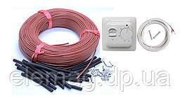 2 м2 Комплект для теплої підлоги 33 ом 12К (20метров) з терморегулятором