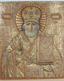 Икона Николая Чудотворца 18 век