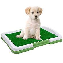 Туалет для собак Puppy Potty Pad 47х34х6 лоток для цуценят горщик трава