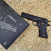 Игрушечный пистолет на пульках металлический Кольт 1911 V14 (точная копия Colt 1911)