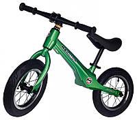 """Беговел Maraton Junior магниевая рама, надувные колеса 12"""" зеленый металлик"""