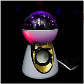 Ночник проектор STAR MASTER звездное небо колонка, пульт управления Белый
