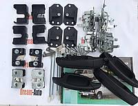 Полный комплект бесшумных замков + Евро ручки ВАЗ 2101-06