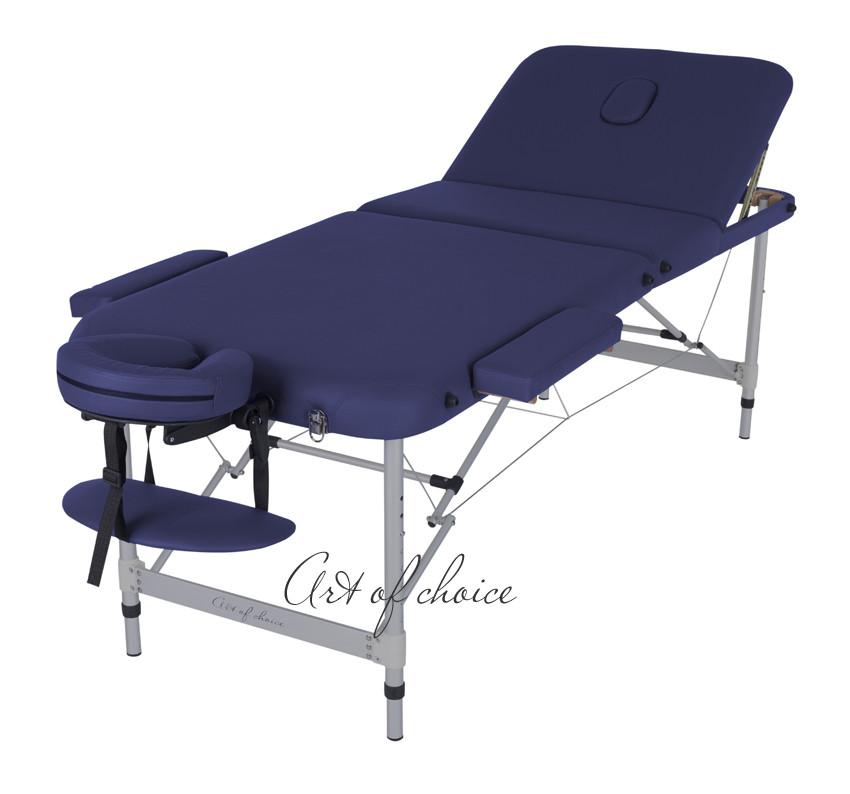 Складной массажный стол кушетка массажная 3-х секционная переносная Art of Choice - LEO комфорт (185*70*61/83)