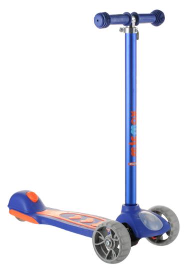 Самокат дитячий Micmax 08N синій до 60 кг   чотириколісний самокат Мікмакс з ліхтариком і підсвічуванням коліс