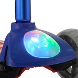 Самокат дитячий Micmax 08N синій до 60 кг   чотириколісний самокат Мікмакс з ліхтариком і підсвічуванням коліс, фото 3