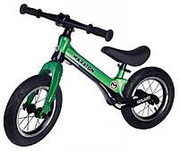 """Беговел Maraton Splash магниевая рама, надувные колеса 12"""" зеленый"""