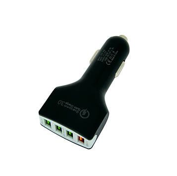 Автомобільний зарядний пристрій для телефону XZY-008 4 Port USB QC3.0 | usb зарядка в авто (SV)