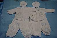 """Теплый махровый костюм  """"Крестильный"""" для новорожденных"""