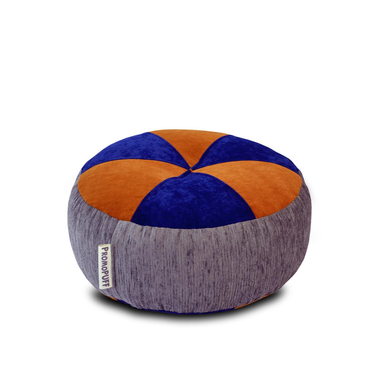 Пуфик Шайба Флок с мебельной тканью