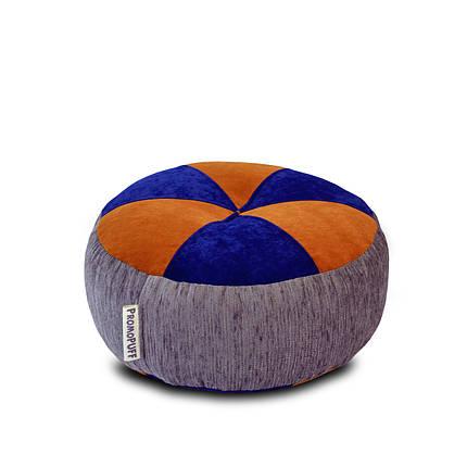 Пуфик Шайба Флок с мебельной тканью, фото 2
