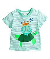 Детская футболка для мальчика  9-12 месяцев, фото 1