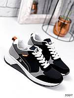 Кросівки чоловічі Kieran чорні + сірі 3507