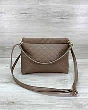 Женская сумка клатч «Ava» кофейная Welassie