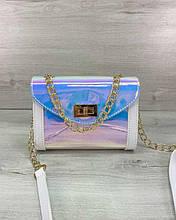 Женская сумка «Бэсс» перламутровая Welassie