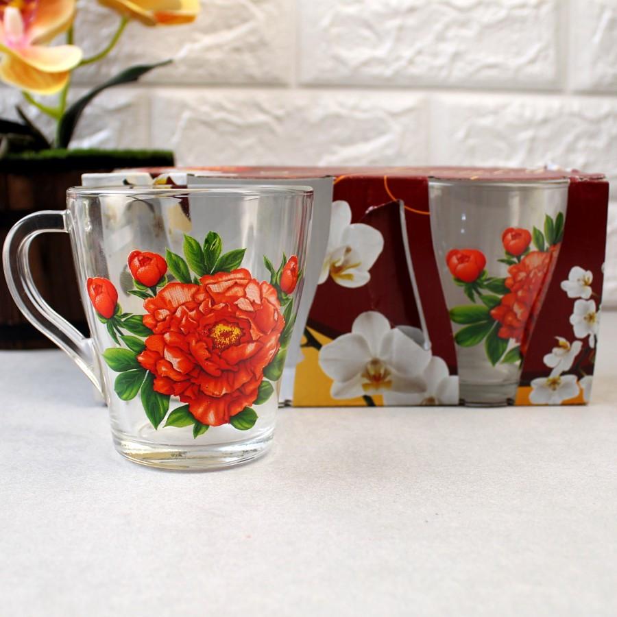 Набір чайних чашок 250 мл 2 шт ОСЗ Квіти Грація (8236)