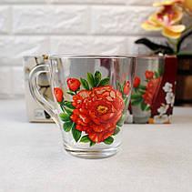 Набір чайних чашок 250 мл 2 шт ОСЗ Квіти Грація (8236), фото 3