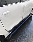 Ford Connect 2002-2006 рр. Бічні пороги Maya Blue (2 шт., алюміній) Стандартна база