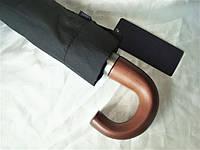 Мужской зонт Zest 10 спиц ручка-крюк 43620W черный