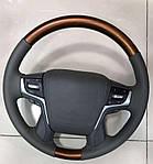 Toyota Prado 150 Руль в сборе Руль в сборе (светлое дерево)