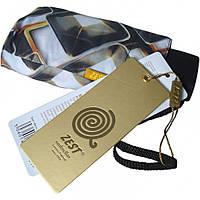 """Зонт ZEST женский механика 5 сложений, цветной плоский расцветка """"Lamps"""" разноцветный"""