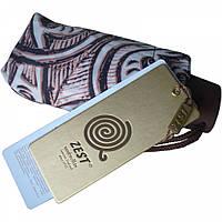 """Зонт ZEST женский механика 5 сложений, цветной плоский расцветка """"Pattern"""" коричневый"""