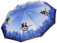 Зонт ZEST, полуавтомат серия 10 спиц, расцветка Love Cats синий
