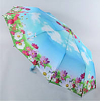 """Зонт ZEST, полуавтомат серия 10 спиц расцветка """"Spring"""" голубой"""