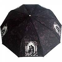 """Зонт ZEST, полуавтомат серия 10 спиц расцветка """"Бал"""" черный"""