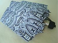 """Зонт ZEST, полуавтомат серия 10 спиц расцветка """"Орнамент"""" серо-голубой"""