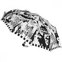 "Зонт ZEST, полуавтомат серия 10 спиц расцветка ""Black&White"" черно-белый"