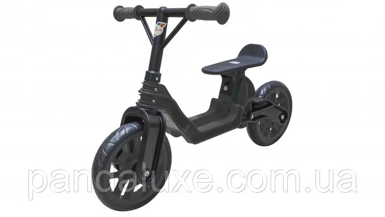 Беговел детский Байк пластиковый велобег для детей от 2-х лет (Чёрный), фото 2