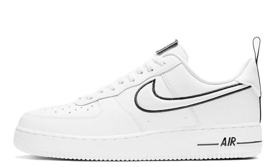 """Жіночі кросівки Nike Air Force 1 """"white/black"""" logo 37 (23.5 див.)"""