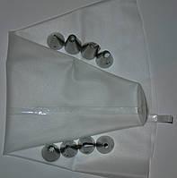 Мешок кондитерский силиконовый с насадками (8 шт)