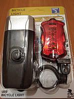 Велосипедная фара комплект задний передний фонарь для велосипеда на жидких кристаллах и габарит.
