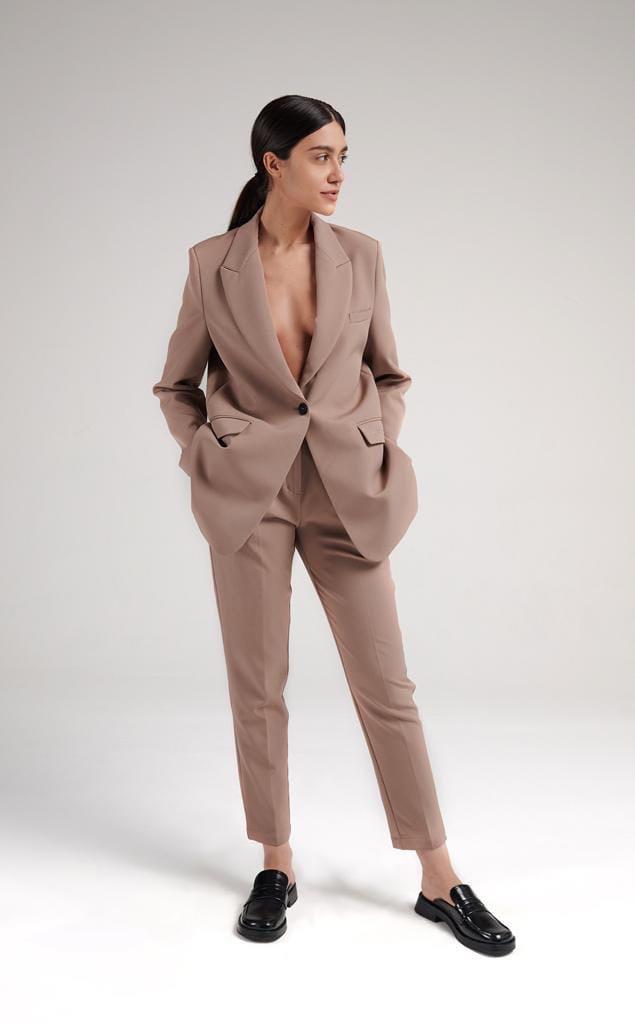Жіночий костюм, костюмка, р-р 42-44; 44-46; 46-48 (мокко)