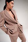 Жіночий костюм, костюмка, р-р 42-44; 44-46; 46-48 (мокко), фото 2