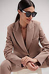 Женский костюм, костюмка, р-р 42-44; 44-46; 46-48 (мокко), фото 3