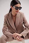 Жіночий костюм, костюмка, р-р 42-44; 44-46; 46-48 (мокко), фото 3