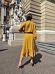 Женское платье, софт, р-р 42-44; 44-46 (горчица), фото 3