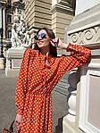 Женское платье, софт, р-р 42-44; 44-46 (оранж), фото 3