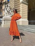 Женское платье, софт, р-р 42-44; 44-46 (оранж), фото 2