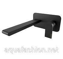Чорний змішувач настінний для умивальника Bugnatese Simple 6647