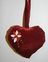 Сердечко c цветком ручная работа. Подарок на 14 февраля