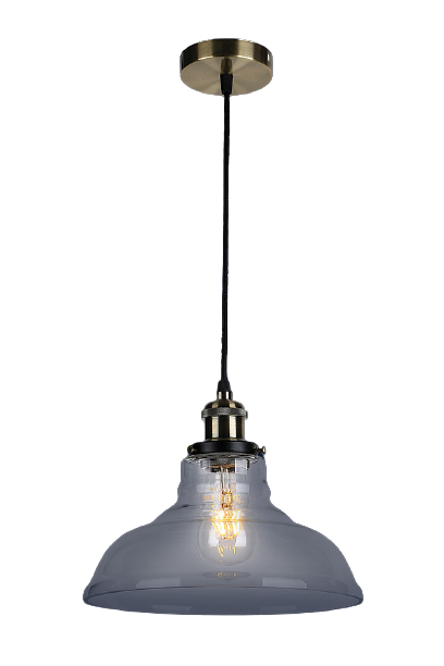 Люстра подвесная на один плафон на черном основании 748PD0012-1 BLACK