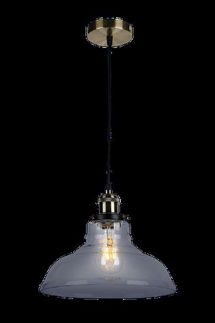Люстра подвесная на один плафон на черном основании 748PD0012-1 BLACK, фото 2