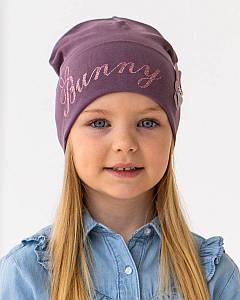Шапка з відворотом для дівчинки на весну-осінь оптом - Артикул IH35
